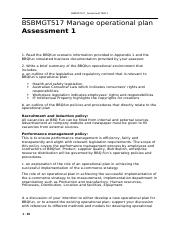 BSBMGT517 - Manage operational plan_assessment 1_SID_15037.docx