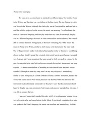 essay about arab culture
