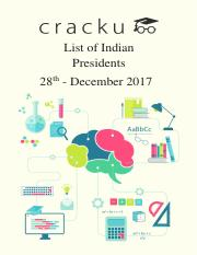 List of Indian Presidents PDF - from 1947 to 2018.pdf