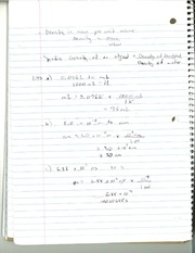CHM 142 Specific Gravity Notes