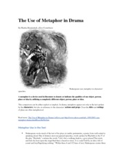 The Use of Metaphor in Drama