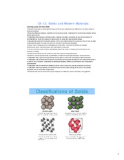 Study Guide on Solids and Modern Materials