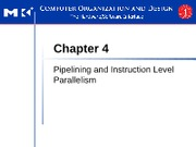 CPE432 - 3 - Pipelining and Instruction Level Parallelism