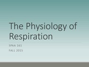 The Physiology of Respiration