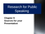 Chapter 9 Sources for your Presentation
