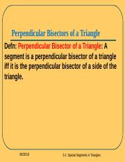 special segments in triangles review.ppt