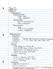 NHM 195 Ch. 4 Carbohydrates Notes