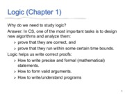Lecture 1(Logic)