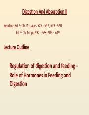 Lec14 - Digestion and Absorption II