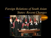412-South Asia-Recent Changes in Foreign Relations