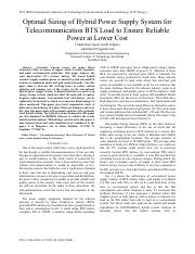 Optimal Sizing of Hybrid Power Supply System for Telecommunication BTS Load to Ensure Reliable.pdf