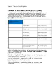 social learning sets