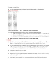 Question _3 Mortgage essay problem