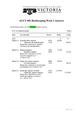 ACCY 001- Week 3 Answers