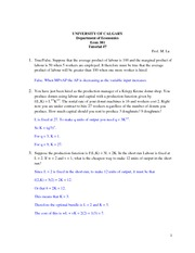ECON301 Tutorial 7 with answers