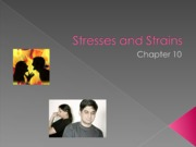 PSY BEH 173S: Stresses and Strains Lecture (Zinger)