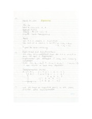 Applied Math - Eigenvector Lecture Note