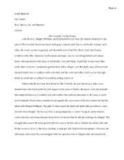 The Crucible - Conflict Essay draft