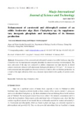 Enhancement of carotenoid and chlorophyll content of an edible freshwater alga