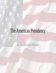 The American Presidency-Fall 2016
