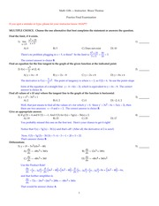 1106 Practice Final Exam Fall 2014 - annotated answers