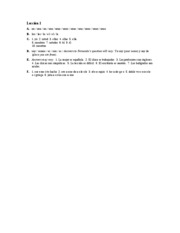 Â¡Hola, amigos! Workbook Answer Key Lec.1 A-F