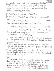 PHYS 142 Saddle Point - Lagranian Function Notes