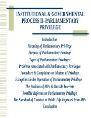 Parliamentary Privilege.ppt