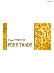 advantage of free trade