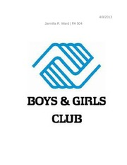 Community Service Report Example - Boys & Girls Club