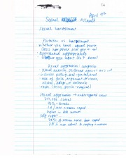 Sexual Assault - Notes