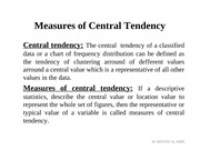 Lecture-4(Central tendency)