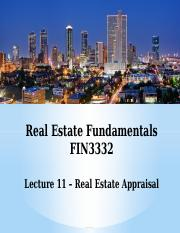 FIN3332-Lecture 11-Real Estate Appraisal-F16-BB.pptx