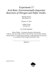acid rain experiment lab report