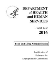 FDA FY 2016 Congressional Justification (01_29_15).pdf