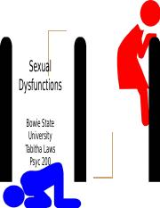 Sexual dysfunctions