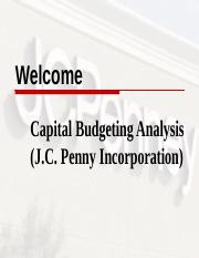capital budgeting ppt of j.c penny.ppt