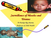 Surveillance of Measles