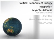 6 Political Economy of Energy Integration