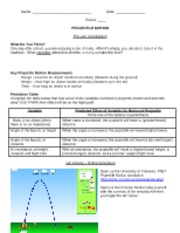 Worksheet Projectile Motion Worksheet punting and projectile motion activity worksheet teacher key 0 motion