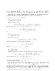 Math 2000 Assignment 3 2006 Solutions