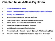 Aqueous Equilibria. Acids and Bases
