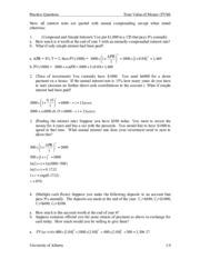 02 Time Value of Money _ Practice Questions with Solutions