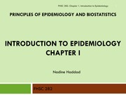 1_Introduction to Epidemiology