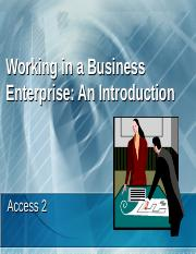 WorkinginABusinessEnterprise(Access2)_tcm4-624029