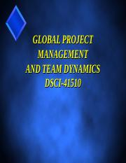 project team dynamics paper Analysing project leadership teams and group dynamics context of software project management lastly, the paper will end team dynamics in software project.