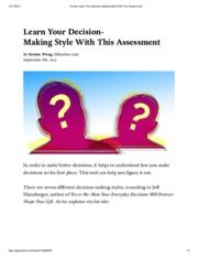Pocket_ Learn Your Decision-Making Style With This Assessment