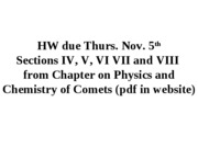 Lect1 Intro to Comets (10-27-09)