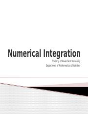 5.8-Numerical Integration