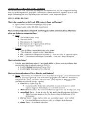WINES STUDY GUIDE